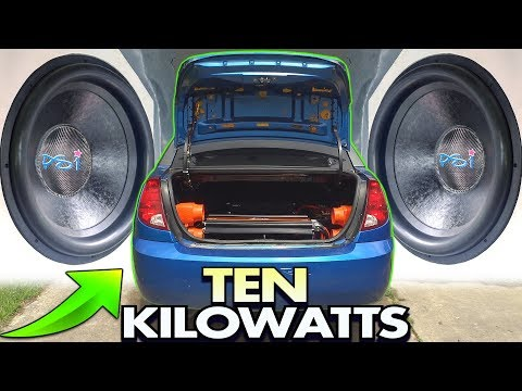 TEN KILOWATTS of Loud BASS Music!!! EXO's 2 18 inch Subwoofers & 10,000 Watt Car Audio Installation