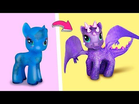 6 лайфхаков для старых игрушек / Куклы-гибриды видео