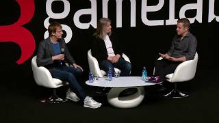 #Gamelab2018 - Amy Hennig and Mark Cerny along the History of Games with Geoff Keighley