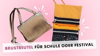 Brustbeutel-Portemonnaie für Schule und Festival nähen - gratis Schnittmuster!