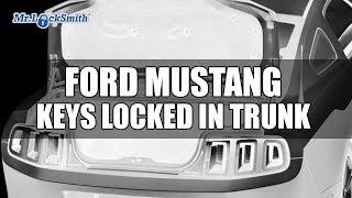 Ford Mustang Keys locked in trunk  | Mr. Locksmith Video