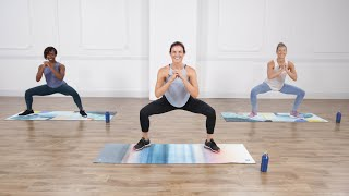 YouTube video E-card Challenge your body with this circuit training cardio and Pilates workout from celebrity trainer