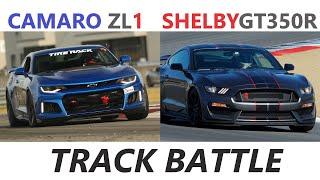 Track Battle Camaro ZL1 Mustang Shelby GT350 GT350R