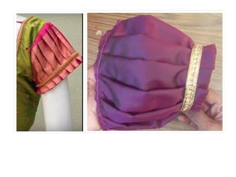 3377e97e86bcad designer blouse puff sleeve cutting and stitching methods ...