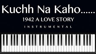 "Video thumbnail of ""kuchh na kaho-1942 A Love Story-on keyboard"""