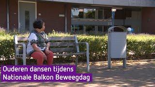 Ouderen dansen tijdens Nationale Balkon Beweegdag
