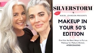 HOW TO APPLY MAKEUP IN YOUR 50'S| | #FIERCEAGING Series |  Nikol Johnson