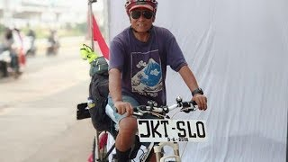 Mudik, Pria 63 Tahun Ini Sudah Tiga Kali Gowes Sepeda Jakarta-Solo, Begini Motif di Balik Aksinya