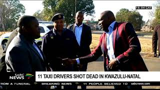 High level team tracking murderers of 11 taxi drivers in KZN