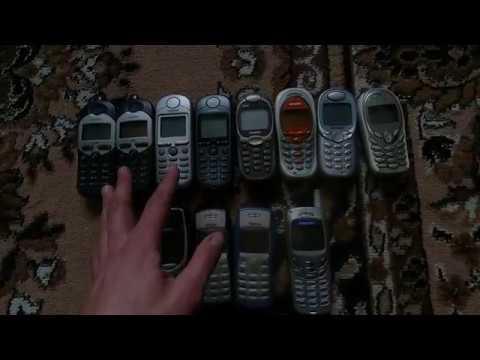 Моя скромная коллекция телефонов Siemens и немного Nokia.