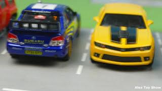 Мультик про машинки - 204 серия:  Полицейская погоня, Гоночная машина, Трансформер, Авария