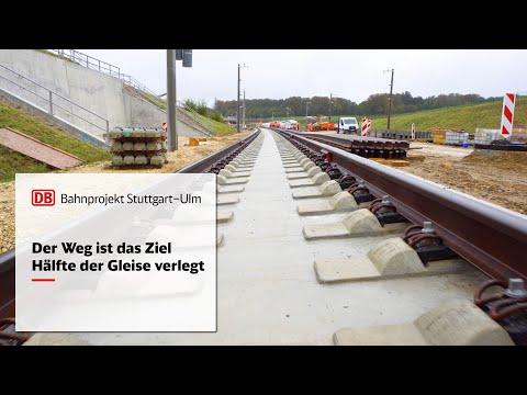 Auf der Neubaustrecke ist die Hälfte der Gleise verlegt