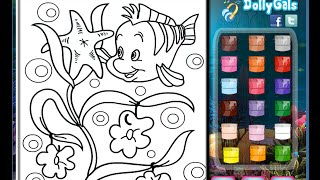 The Little Mermaid Coloring Pages For Kids - The Little Mermaid Coloring Pages
