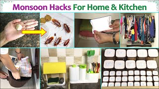 Monsoon Hacks For Home & Kitchen   Must Know Monsoon Kitchen Hacks   Monsoon Home Tips