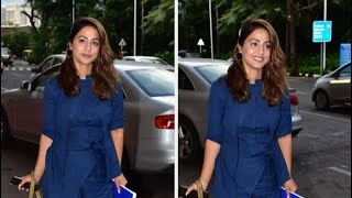Hina Khan's Blue Airport Attire Will Ward Off Your Monday Blues | TV | SpotboyE