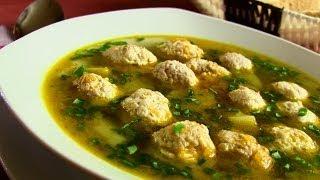 Смотреть онлайн Варим картофельный суп с мясными фрикадельками