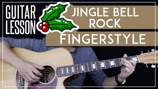 Jingle Bell Rock Fingerstyle Guitar Tutorial - Christmas Fingerstyle 🎸|Easy Arrangement|