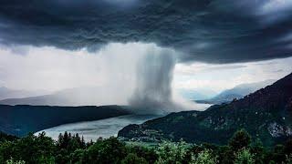 Tsunami from Heaven / Amazing Rainstorm Timelapse / Downburst / Microburst