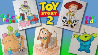 Toy Story 2 cartoon characters #ColoringPages #forKids #LearnColors and Draw with Toy Story