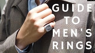 A Guide To Mens Rings | Inspo, History, Tutorial