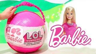 L.O.L. Big Surprise *Customized* With Barbie Surprise Toys and LOL Dolls Accessories