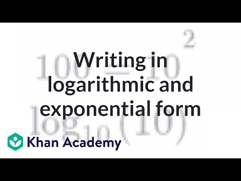 Relationship between exponentials & logarithms (video