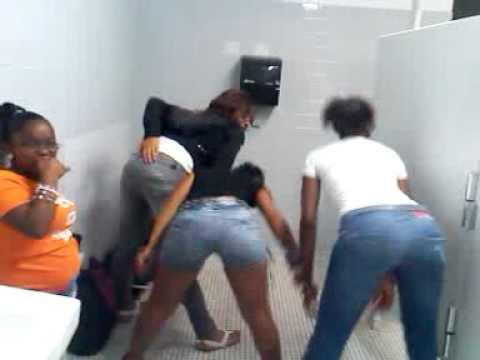 Girl fucked in school bathroom