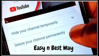 How to delete YouTube channel permanently 2021 | Delete YouTube Channel Permanently on Phone 2021