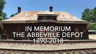 The destruction of the beautiful Abbeville Depot