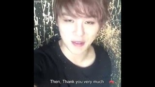[ENG SUB] 160414 JYJ FB Live: Junsu, Thank you, How Can I Love You