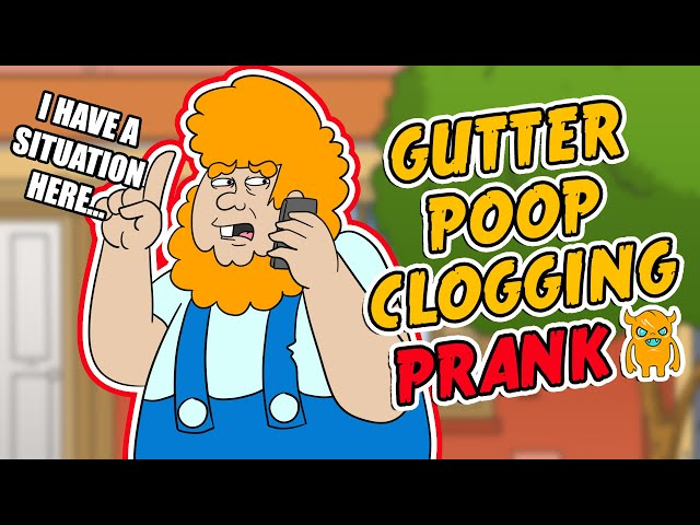 Poop in The Gutter Prank - Ownage Pranks