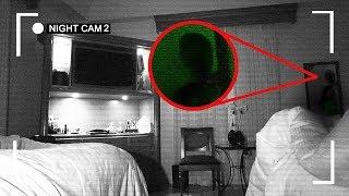 😲 I RECORDED MYSELF SLEEPING IN A HAUNTED HOTEL ROOM