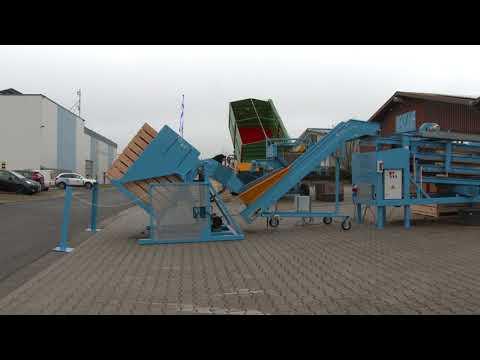 EURO-Jabelmann Kistenkippgerät auf Podest mit Vorratsbunker, NEU,