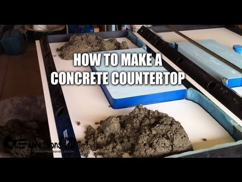 Making a Concrete Countertop