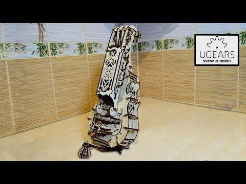 Невероятная колесная лира ХАРДИ-ГАРДИ от UGEARS. Деревянный конструктор