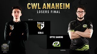 Gen.G vs Optic Gaming | CWL Anaheim 2019 | Losers Final