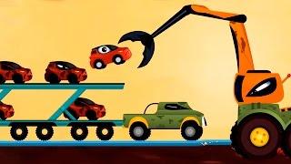 Мультики про машинки - мультфильм, как Машинка Редди спасает от бандитов - Погоня.