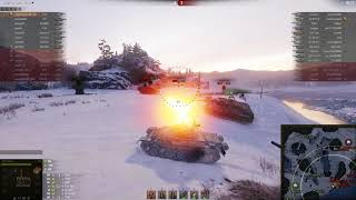 Напряженный бой на Т-54
