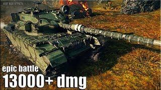 РЕКОРД ПО УРОНУ 13000+ dmg Centurion Action X World of Tanks лучший бой на британском ст 10 уровня