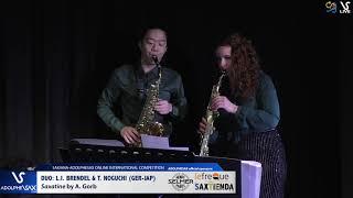 DUO L.I. BRENDEL & T. NOGUCHI play Saxatine by A. Gorb #adolphesax