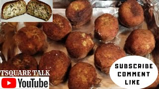 MAKE BOUDIN BALLS WITH A SPICY CREAMY CENTER.