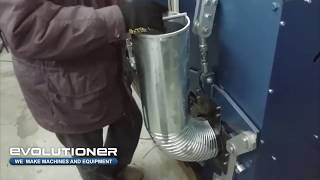 Downspout Elbow Machine EEM-200. Bending of the pipe 200 mm diameter