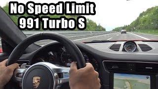 780HP Porsche 991 Turbo S PP-Performance - Autobahn, Revs, Accelerations!