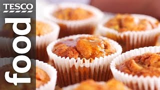 How to make spiced pear and apple muffins