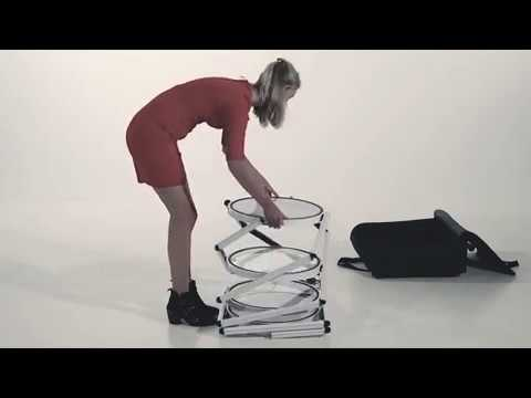 Messevitrine faltbar mit LED Beleuchtung Aufbau - Konorg
