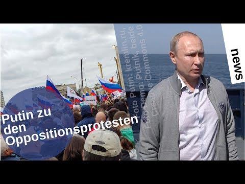 Putin zu den Oppositionsdemos in Moskau [Video]