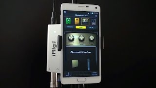 Using AmpliTube UA   Your Guitar Tone On Your Android Phone