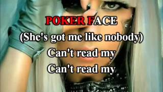Lady Gaga - Poker Face Karaoke com back vocal