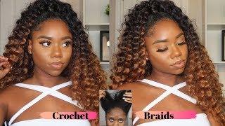 PROTECTIVE CROCHET HAIR UNDER 45 Minutes - Looks Like Human Hair Weave! Half Up Half Down | Chev B.