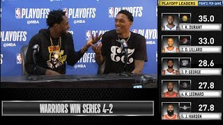 Lou Williams & Patrick Beverley postgame reaction | GS Warriors vs LA Clippers Game 6